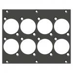 front panel 8 x D-Series cutout, 2 HE, 3 BE for SYS-series, colour: anthracite, RAL 7016