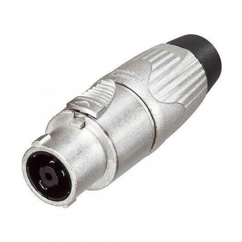 NEUTRIK SpeakON, IP52 , 8-pol , Metall-, Löttechnik-Kabelbuchse, versilberte(r) Kontakt(e), gerade, max. 6 mm², nickelfarben