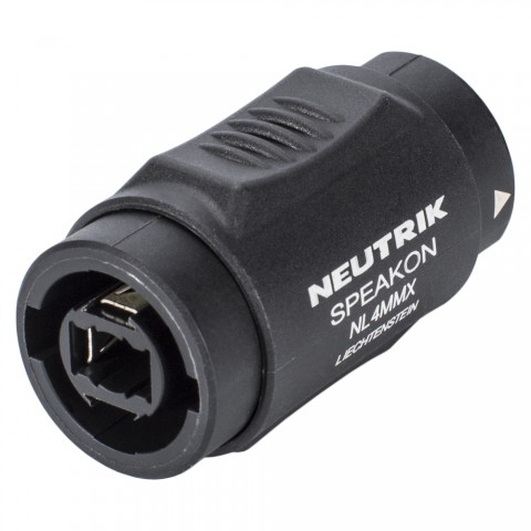 NEUTRIK  Adapter | Speakon female 4-pol gerade, schwarz