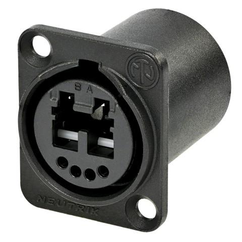 NEUTRIK® opticalCON®, metal-, Patch-female connector, Type D, dark grey