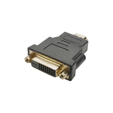 Adapter   HDMI male/DVI female gerade, schwarz