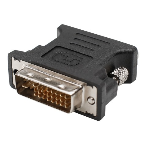 Adapter | VGA female/DVI male gerade, schwarz
