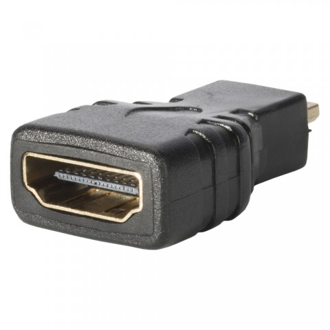 Adapter   HDMI female/HDMI micro male gerade, schwarz