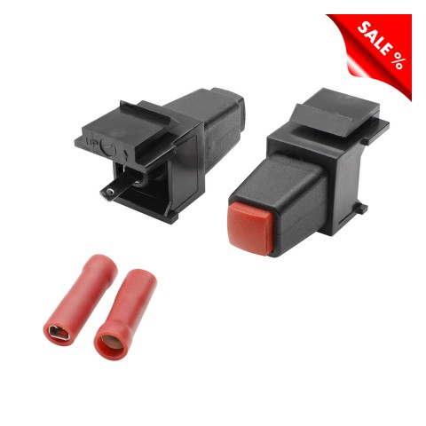plastic-mountingfemale connector, clamping terminal max. 1.5 mm², Keystone Clip-In, black