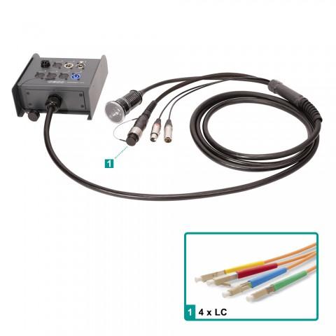 Sommer cable Digital Fiber Distribution System , Schuko cable socket/XLR 3-pole female/XLR 3-pole male/LC; NEUTRIK/HICON/MENNEKES