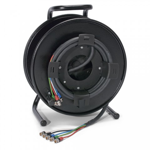 Sommer cable MADI Connection system , rearTWIST® BNC connector male; NEUTRIK®; on SCHILL HT series cable reel with auxiliary coil KOMB.RM