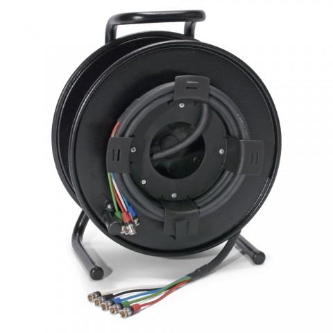 Sommer cable MADI Anschluss-System , Reartwist BNC Stecker; NEUTRIK; auf Kabeltrommel SCHILL HT-Serie mit Hilfswicklung KOMB.RM