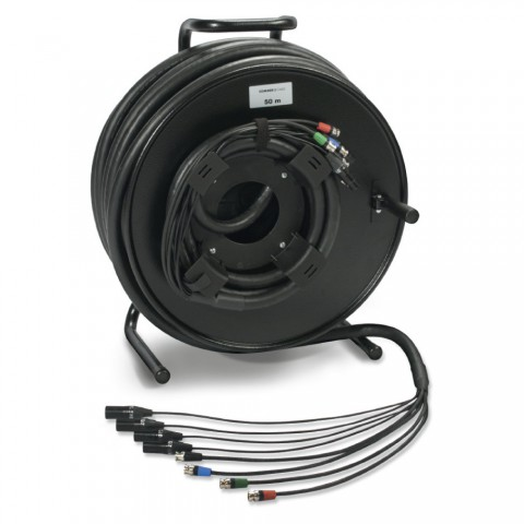 Sommer cable MADI Connection systems , XLR 3-pole female/XLR 3-pole male/rearTWIST® BNC connector male; NEUTRIK®; on SCHILL HT series cable reel with auxiliary coil KOMB.RM