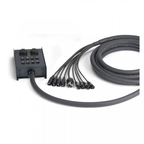 Sommer cable Netzwerk- / DMX- & Power- Systeme , Ethercon female/Ethercon male/XLR 3-pol female/XLR 3-pol male/Schuko-Einbaudose (IP54)/Schukostecker; NEUTRIK/HICON