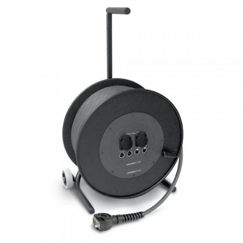 Sommer cable Netzwerk- / DMX- & Power- System , Schuko-Einbaudose (IP54)/Ethercon female/Multipin male (HAN-ECO, ohne Bügel); HICON