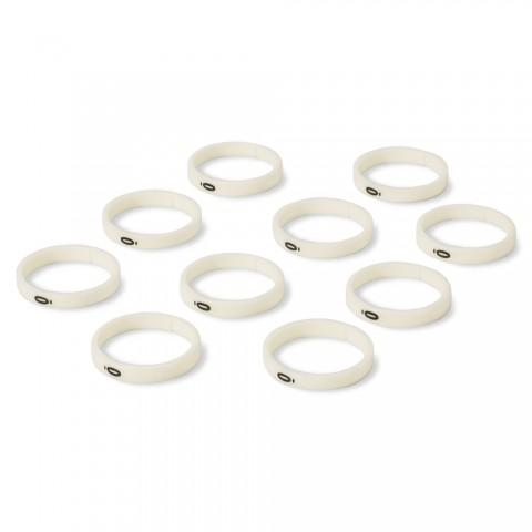 """HICON Codierring, 10 Ringe mit Nummer """"0"""" für HICON XLR gerade"""