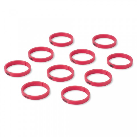 """HICON Codierring, 10 Ringe, je ein Ring mit Nummer von """"0"""" – """"9"""" für HICON XLR gerade"""