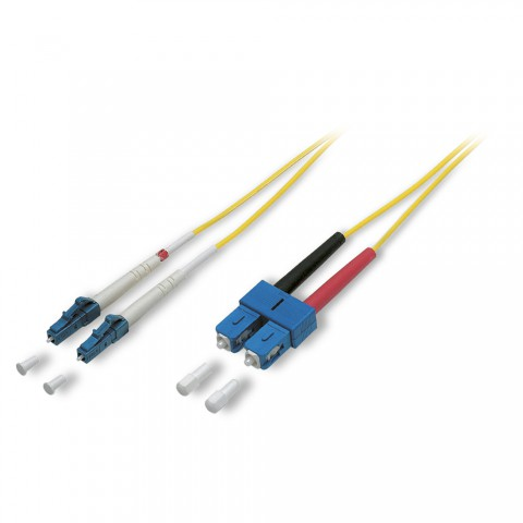 LWL-Patch-Kabel 9/125 µm | 2 x LC / SC-Duplex | Singlemode
