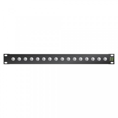 Sommer cable Video-Patchpanel BNC HD-SDI , 1 HE, 12 BE, BNC-socket; HICON, 2mm steel panel, colour: anthracite RAL 7016