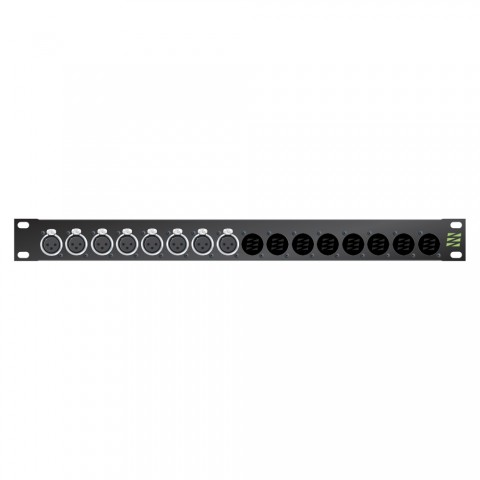 Sommer cable Audio XLR Patch panels Broadcast , 1 HE, 12 BE, XLR 3-pole male/XLR 3-pole female; NEUTRIK®; Silver plated contacts, 4 mm Aluminium, colour: anthracite RAL 7016