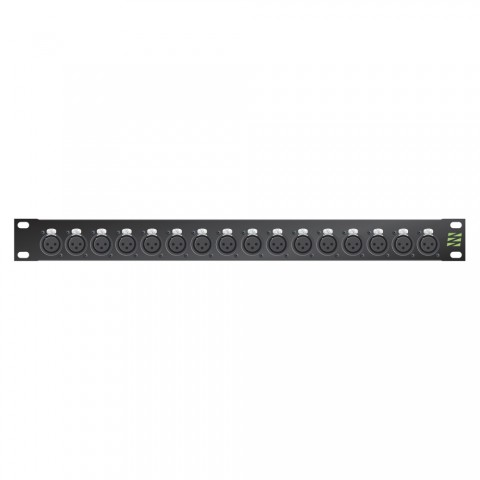 Sommer cable Audio XLR Patch panels Broadcast , 1 HE, 12 BE, XLR 3-pole male/XLR 3-pole female; NEUTRIK®; gold-plated contacts, 4 mm Aluminium, colour: anthracite RAL 7016