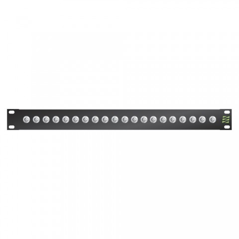 Sommer cable Video-Patchpanel BNC HD-SDI broadcast , 1 HE, 12 BE, BNC-socket; HICON, 4 mm Aluminium, colour: anthracite RAL 7016