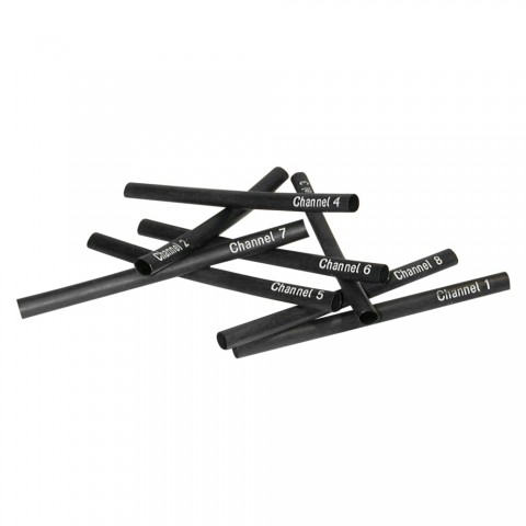 Sommer cable Shrink-on tube, Channel 1 – Channel 8, black