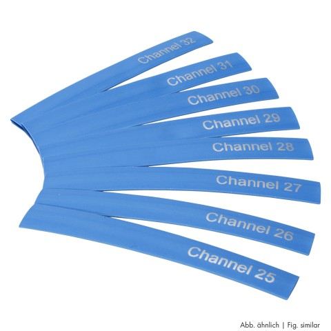 Sommer cable Schrumpfschlauch, Channel 41 – Channel 48, blau