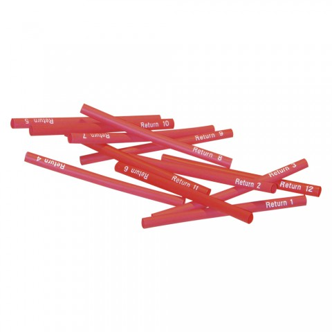Sommer cable Shrink-on tube, Return 1 – Return 12, red