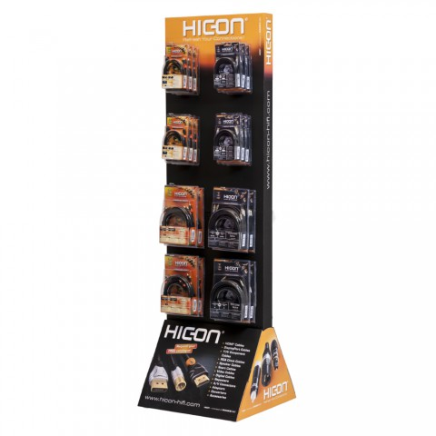 HICON Cardboard-Display, width: 580 mm, height: 1950 mm, green