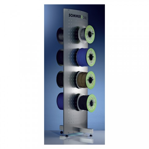 Sommer cable Reel display 2-sided stainles steel, width: 560 mm, height: 1750 mm, stainless steel