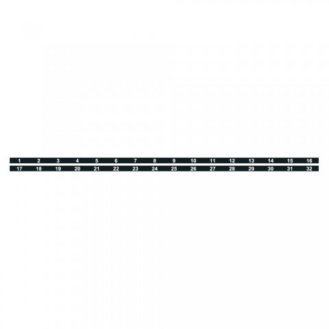 Sommer cable Numbered strips, black