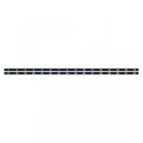 Sommer cable Nummernstreifen, schwarz