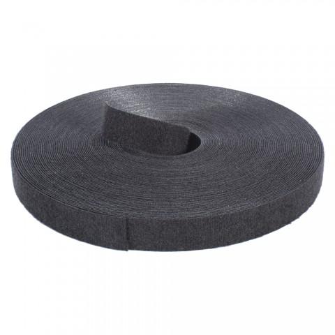 Klettband, VPE: 25 m, Breite: 20 mm, schwarz