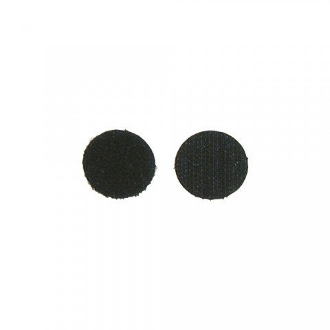 Adhesive dots, adhesive surface on the reverse, PU: 10 Pair, length: 47 mm, width: 47 mm, black