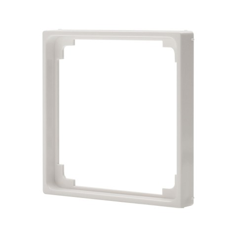Adapter frame -> switch frame 55x55 , scale: 50x50 mm, plastic, colour: pure white
