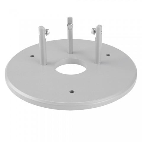 Flexbodenplatte für Facette-Raumsäule , Farbe: alusilber | W45C-AR2-FBP