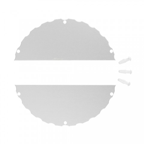 Kreissegment-Abdeckung für Facette-Raumsäule , Farbe: alusilber