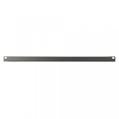 Blank rack panel, Finish RAL 9011 smooth matt, 0,5 HE, sheet steel 1.2mm, black