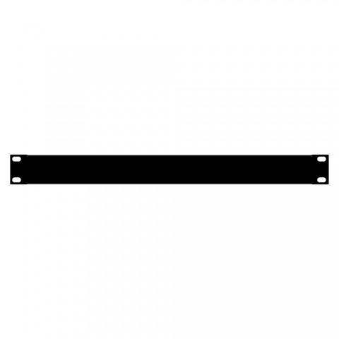 Blank rack panel, 1.2 mm, steel, 1 HE, black