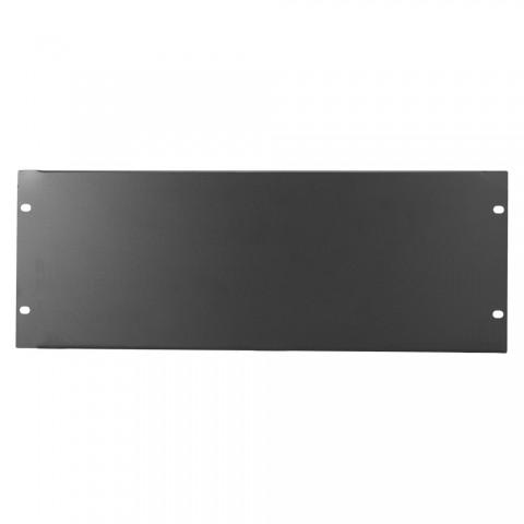 Blank rack panel, 1.2 mm, steel, 4 HE, black