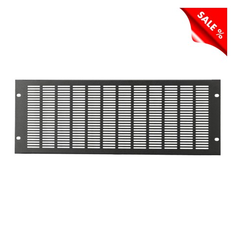 Rack panel, for ventilation, 1.2 mm, steel, 4 HE, black