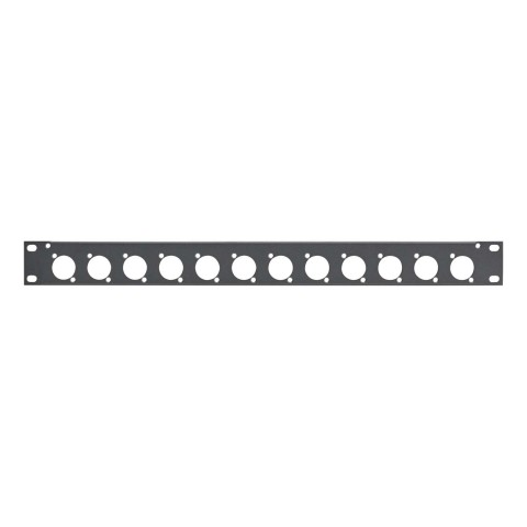 Sommer cable Rack Panel, Universal D-Serie, 1 HE, 1 HE, Stahlblech, vz. 1.5mm, anthrazit