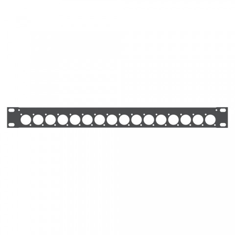 Sommer cable Rack panel, universal D series, 1 HE, 1 HE, Sheet steel, tin-plated 1.5mm, anthracite