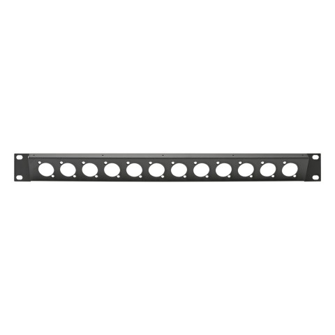 Sommer cable Rack panel, universal D series 30° angled, 1 HE, 1 HE, Sheet steel, tin-plated 1.5mm, anthracite