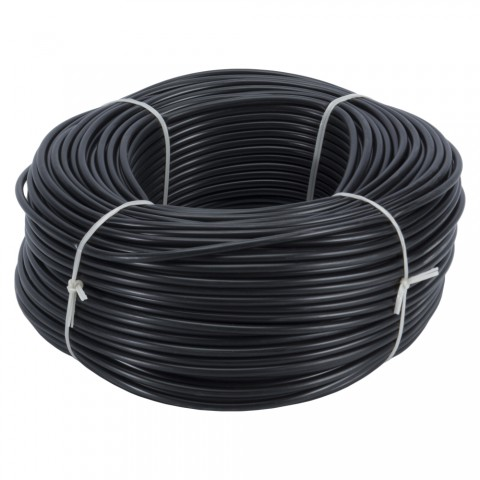 Insulating Tubing, PVC, PU: 100 m, black