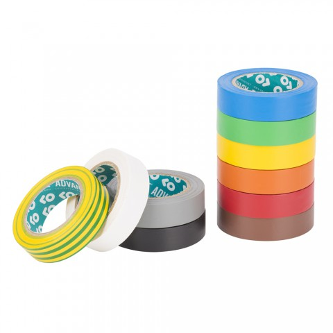 ADVANCE Electrical insulating tapes, width: 15 mm, 10 colours
