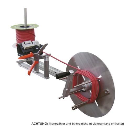 Sommer cable Abwickler Tischgerät, zum Wickeln von Spule zu Ring, Breite: 930 mm, Höhe: 340 mm