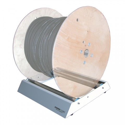 Sommer cable Floor undwinding, For cable reels with max. roll width of 50 cm, width: 550 mm, height: 125 mm