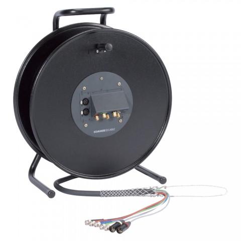 Video, 3 x 0,28 mm² | BNC / BNC, NEUTRIK on cable spool