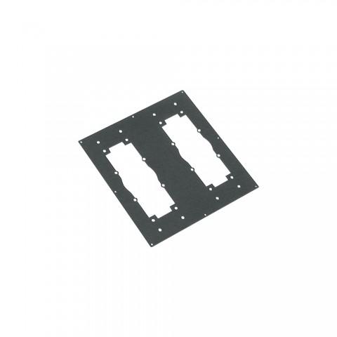 Sommer cable Adapterblech, 2 x Universal-Multipin-Ausschnitt für BB-Series, anthrazit RAL7016