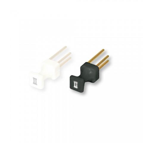 GHIELMETTI Verbindungs-Stecker, 2-pol , Kunststoff-stecker, vergoldete(r) Kontakt(e), gerade