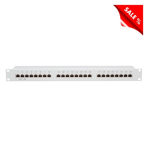"""19"""" PATCHPANEL, CAT.5e, 1 HE"""