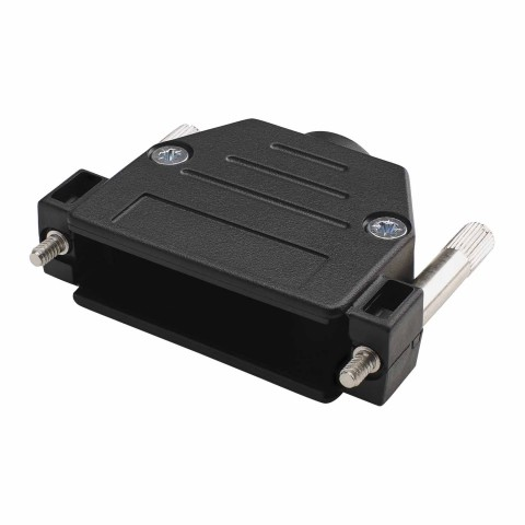 SUB-D (8-channel)/plastic housing, 25-pole , plastic-, screw-type-female connector, straight, black