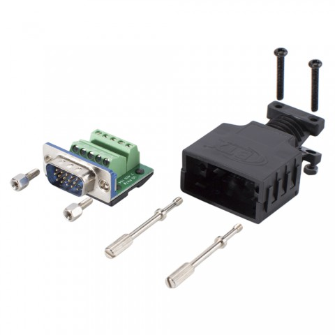 SUB-D/HD (VGA), 15-pole , screw-type-male connector, straight/Installation RGBHV